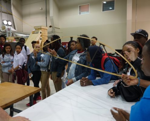 Dunbar High School students visit Aurora Flight Sciences HQ and design lab in Manassas, VA