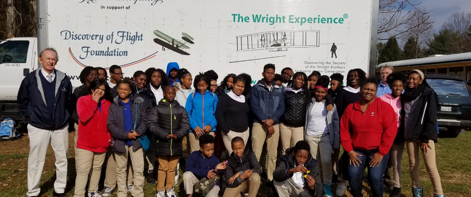McKinley middle school students visit The Wright Experience in Warrenton, VA