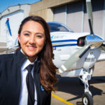 Shaesta Waiz, the first female pilot from Afghanistan and youngest female to fly solo around the world in a single engine airplane
